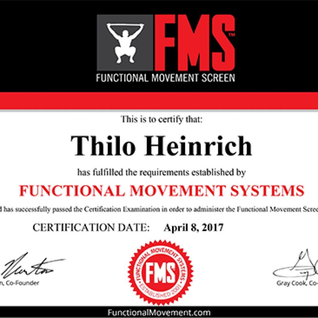 Functional Movement Screen Move100